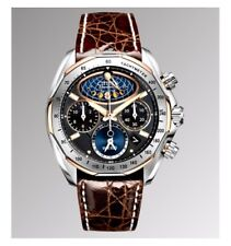 NEW CITIZEN SIGNATURE COLLECTION ECO DRIVE MOON PHASE Chrono CROCO AV3006-09E