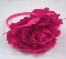 "New Large Fuscia 5"" Flower Headband With Feathers NWT From Target #H2011"
