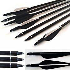 20 Fibra de vidrio Tornillo Punta Archery Flechas Barrera cuchilla compatible