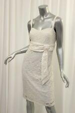 R&M RICHARDS Ivory Lace Empire Waist Bow Wrap Dress 12