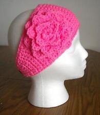 Bright Pink! Adult Handmade Crochet Flower Headband