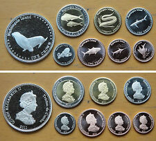 Nightingale Island Coins Set of 8 Coins 2011 AU-UNC