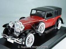 DUESENBERG J 1935 CAR MODEL 1/43RD SCALE MAROON/BLACK COLOUR EXAMPLE T3412Z(=)