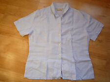 Woman Casual Blue Shirt Short Sleeve by La Ligna (Dutch Brand)
