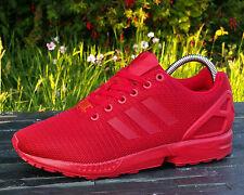 BNWB Genuine Adidas Originals ZX Flux ® Triple Red Torsion Sneaker UK 8