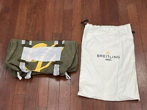 RARE VIP Gift Breitling Large Green & Yellow Canvas Duffle Bag BRAND NEW