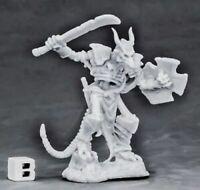1x UNDYING LEZARD FIGHTER -BONES REAPER figurine miniature rpg skeleton 77560