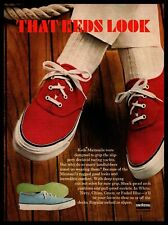 """1966 Keds Mainsails Boat Deck Shoes """"That Keds Look"""" Uniroyal Rubber Print Ad"""
