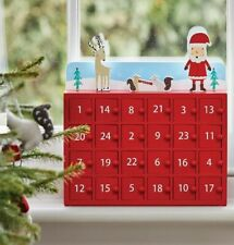 Wooden Christmas advent calendar with doors (Great Little Trading Co.)