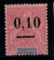 Madagaskar 1902 Yv. 53 Ungebraucht * 100% 0,10 von 50 c Aufdruck