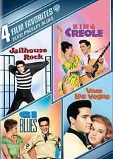 4 FILM FAVORITES ELVIS PRESLEY BLUES NEW SEALED 4-DISC DVD SET KING CREOLE OOP