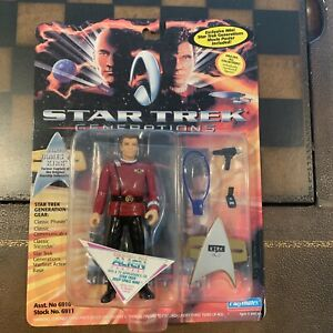 1994 Playmates Star Trek Generations Action Figure Of Admiral James T  Kirk- NIP