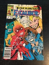 """Excalibur#6 Incredible Condition 8.5(1989)""""Inferno"""" Davis Art!!"""