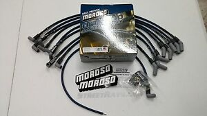Moroso ULTRA 40 SPARK PLUG WIRES BIG BLOCK FORD BBF 429 460 HEI (Blue)