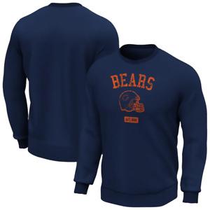 Chicago Bears Sweatshirt Men's Helmet Graphic Sweatshirt - Navy - New