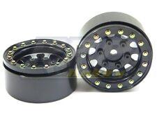 """SSD RC 1.55"""" Steel D Hole Beadlock Wheels (Black) SSD00097"""
