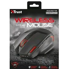 NEW TRUST 20687 WIRELESS OPTICAL GAMING MOUSE GXT130 ADJUSTABLE 800 TO 2400 DPI