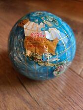 Semi-Precious Multi-Gemstone World Globe Paper Weight - Turquoise