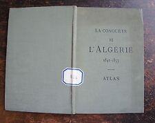 ROUSSET CAMILLE: CONQUETE DE L'ALGERIE, 1841-1857, ATLAS 10 PLANCHES