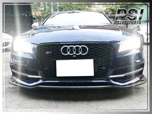 2012-2015 Audi 4G S7 JPM Style Carbon Front Bumper Lip Pre Facelift Only CF