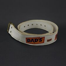 "Rare DAD's Root Beer Soda Pop Advertising Belt White 42"" (Large)"