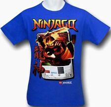 Lego Ninjago Masters of Spinjitzu t-shirt 14-16 L XL Childs Blue Short Sleeve