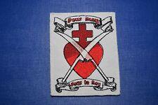 écusson insigne tissu religieux Coeur Sacré de Jésus Chouan Pour Dieu Le Roy