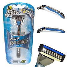 Pace-3 Men's 3 Blade Razor (1 handle + 2 x 3 blade cartridges + 1 Shower Hanger)