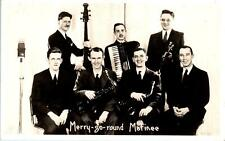 RPPC  MUSICAL GROUP    MERRY-GO-ROUND MATINEE   c1930s   Postcard