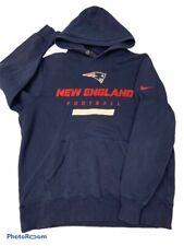 Nike New England Patriots Mens Hoodie Blue Pocket Pullover Sweatshirt XL