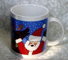 Anco Merchandise Co. Christmas Reindeer Santa Coffee Tea Mug Cup