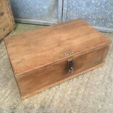 Old Pitch Pine & Ply Blanket Box Chest
