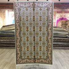 Yilong 3'x5' All Over Handmade Classic Silk Carpet Traditional Top Area Rug 042C