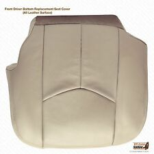 2003 2004 2005 2006 Chevy Tahoe Front Driver Bottom Leather Seat Cover Light Tan