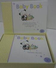 Baby Keepsake Photo Album Book Yellow Unisex Teddy Bear NIB Arts Sake