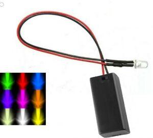 Colour Changing RGB 5mm LED & Battery Box - Model Making Model Kit Sci-Fi Model