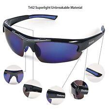 Duduma polarised Sports Sunglasses unbreakeable for Baseball Cycling Blue Black