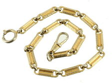"""Vintage Gold Tone Chunky Link Pocket Watch Charm Fob Chain 12"""""""