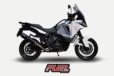 1290 Super Adventure Diablo Black SS Oval Midi UK Road Legal Exhaust + Black Bkt