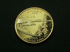 UNITED STATES     25  Cents     2005    GOLD  PLATED   ,    OREGON