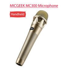 MICGEEK MC300 Wired Microphone KTV Home Karaoke Speaker Gold Portable Handheld