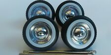 JADA 1/24 SCALE WHITE WALL TIRES AND WHEELS FOR PLASTIC MODEL CARS OR TRUCKS