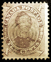 Early Canada #17 10c Red Violet Prince Albert 1859-64 Used Rare