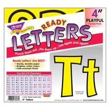 Yellow 4-Inch Notice Board Display Letters Classroom Decoration 216 Characters