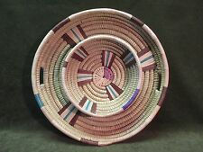 TRADITIONAL AFRICAN ZULU COILED BASKET CHIP & DIP TRAY - BEAUTIFUL HANDMADE #323
