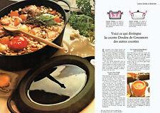 Publicité Advertising 088  1976   la cocotte Doufeu de Cousances (2 pages)