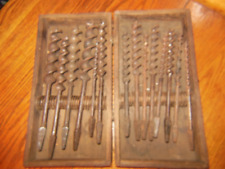 Vintage Carpenter's Auger Bit Set./ stamped SHELDON