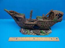 GALLEON PIRATE WAR SHIP WRECK WS008 AQUARIUM FISH TANK DECOR HAND PAINTED