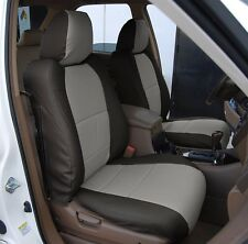 ACURA MDX 2002-2006 BLACK/GREY S.LEATHER CUSTOM MADE FIT FRONT SEAT COVER
