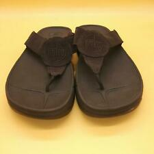 FitFlop Oasis Brown Suede Leather Rubber Flip Flop Thong Womens 10 Casual Summer